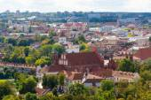 Top view panorama of Vilnius old town — Stock Photo