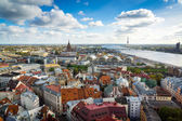 Top view of the old city of Riga — Stock Photo