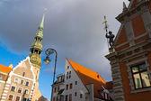 Landmarks of Riga, Latvia — Stock Photo