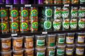 Candy and cookies with marijuana — Foto de Stock