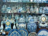 Antique Dutch traditional porcelain — Stock Photo