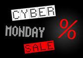 Cyber maandag te koop banner — Stockfoto