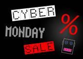 Nápis-cyber pondělí výprodej — Stock fotografie