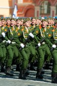 Military parade in Moscow, Russia, 2015 — Stock Photo