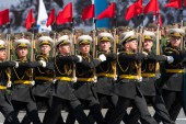 Parada militar em Moscou, na Rússia, 2015 — Fotografia Stock