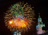 Fireworks on the 70th Victory Day on Red Square — Stock Photo