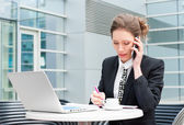 Young business woman working — Stock Photo