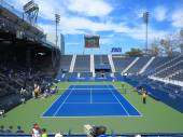 U.S. Open Tennis Grandstand Court — Stock Photo