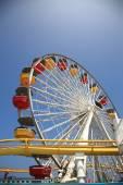 Santa Monica Pier Amusement Park — Stock Photo