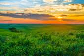 Kansas Sunset in the Flint Hills — Stock Photo