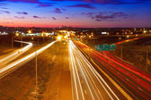 Highway leading into Kansas City, Missouri — Stock Photo