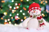 Festliche Schneemann — Stockfoto