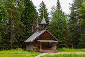 Wooden chapel — Stock Photo