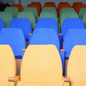 Rows of chairs at cinema — Fotografia Stock