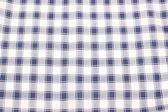 White and blue checkered textile — Stock Photo