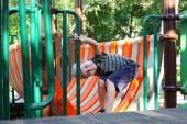 Little boy on the playground — Stock Photo