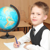 Boy study in the classroom — Stockfoto