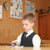 Little boy with the tablet pc — Stock Photo