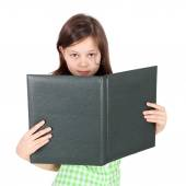 Girl with the folder in her hands — Stock Photo