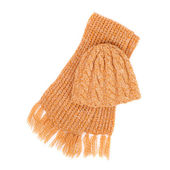 Set of cap and scarf — Stock Photo