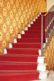 Rood fluweel trap — Stockfoto