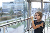 Little girl posing in the hal — Stock Photo