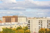 Residential district of city — Stock Photo
