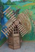 Alte hölzerne Mühle — Stockfoto