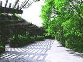 Long walkway — Stock Photo