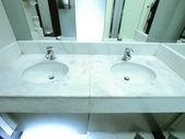 Faucet and washbasin — Stock Photo
