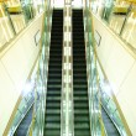 Moving escalator — Stock Photo #66835465
