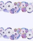 çiçek suluboya kenarlık — Stok Vektör