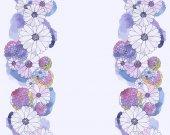 Bordo floreale di acquerello — Vettoriale Stock