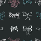 Set of bows, hand drawn — Stock Vector