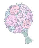 Bouquet floral — Vecteur