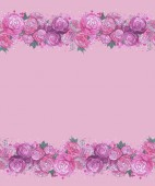 Floral watercolor border — Stock Photo
