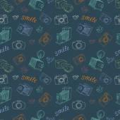 Starý fotoaparát vzor — Stock vektor