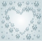 Srdce sněhové vločky — Stock vektor