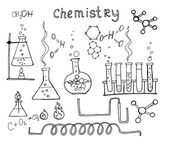 Hand drawn chemistry set — Vettoriale Stock