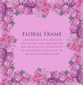 Floral watercolor border — Stock Vector