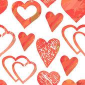 Modèle sans couture avec coeurs — Vecteur