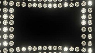 Glow light border — Stock Video