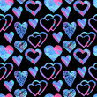 Seamless pattern with hearts — Stock Vector #63145769