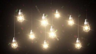 декор освещение — Стоковое видео