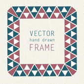 Hand drawn frame — Stock Vector