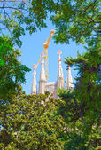 View of Sagrada.Barcelona, Spain — Stock Photo