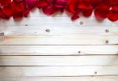 Rose Petals Border — Stock Photo