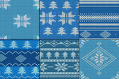 Knitting Pattern set — Stock Vector