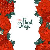 Fronteira de vintage com rosas — Vetor de Stock