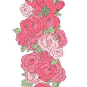 Seamless background with roses — Stock Vector